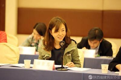 宝鸡市建筑业九州彩票副秘书长 田新惠