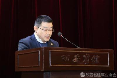 陕建五建集团董事长冯弥进行经验交流